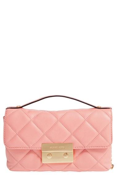 e3e93155cdbb28 Michael Michael Kors 'Small Sloan' Lambskin Leather Crossbody Bag In Pale  Pink/ Gold. Nordstrom