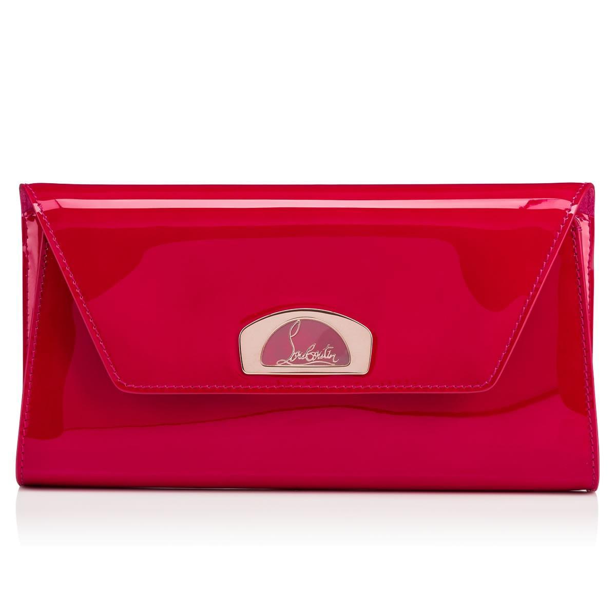 364d48605ad0 Christian Louboutin Vero-Dodat Clutch Ultra Rose Patent Calfskin - Handbags  -