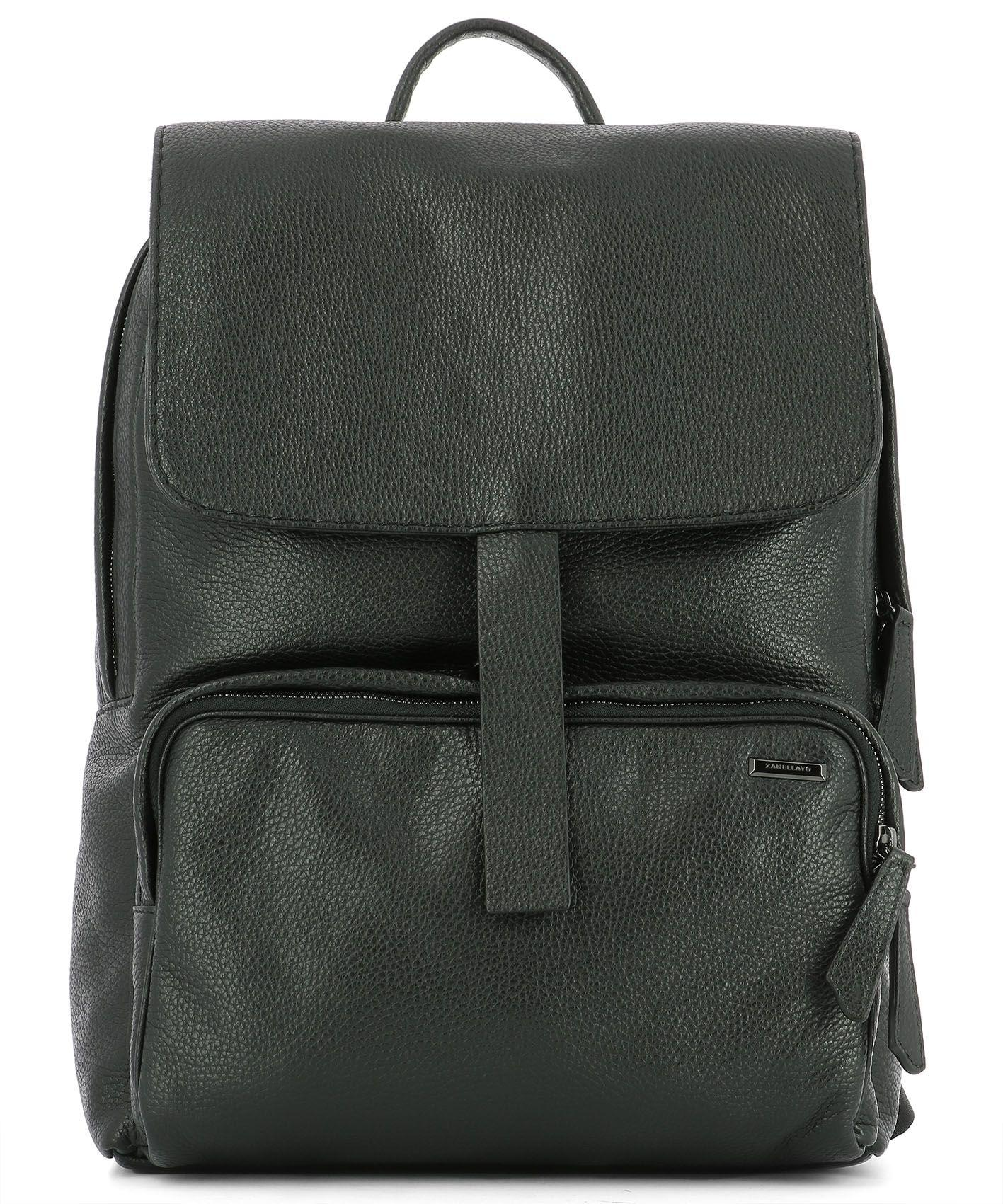 Zanellato Black Leather Backpack