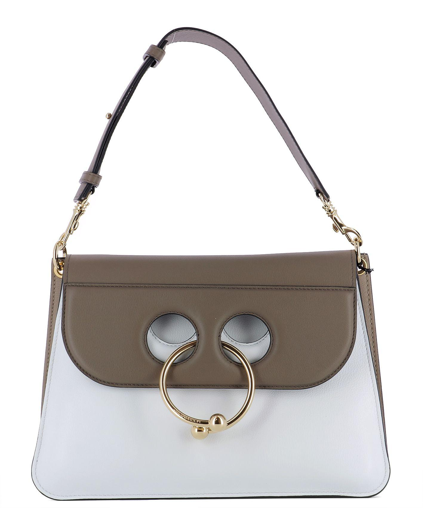 Jw Anderson White Leather Shoulder Bag