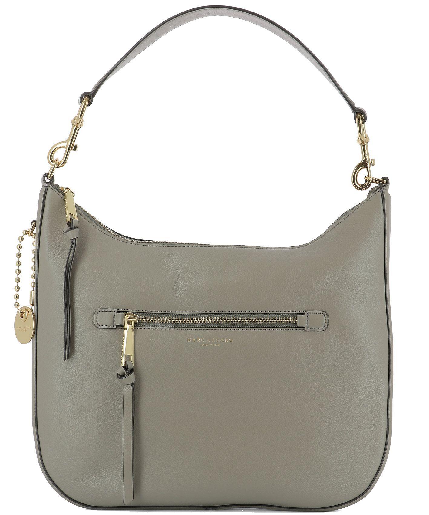 Marc Jacobs Grey Leather Shoulder Bag
