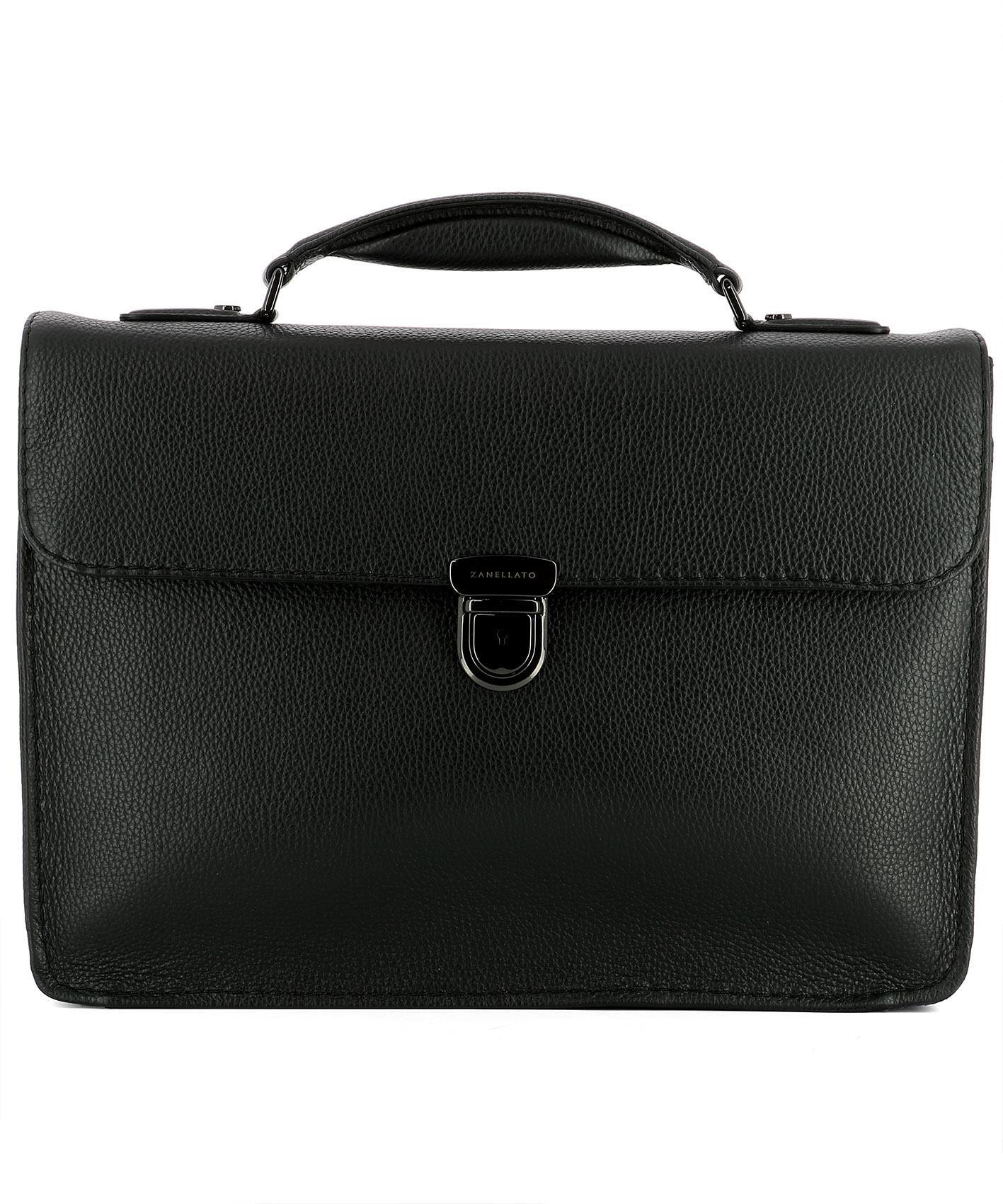 Zanellato Black Leather Handle Bag