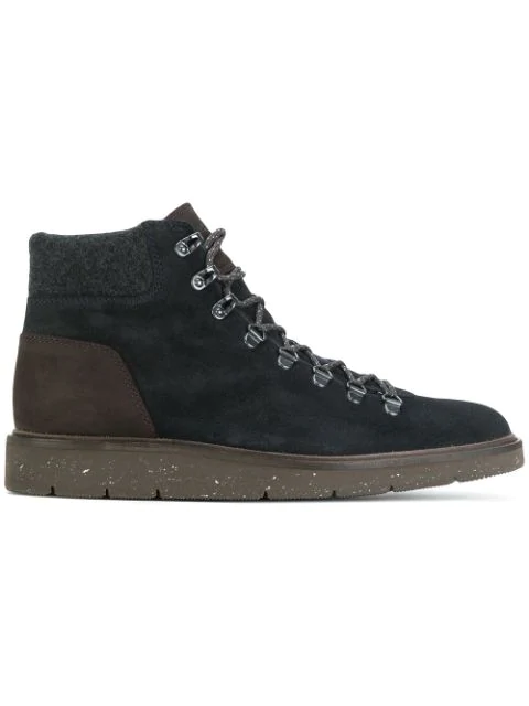Hogan Hiking H334 Suede Ankle Boots With Trekking-inspired Metal ...