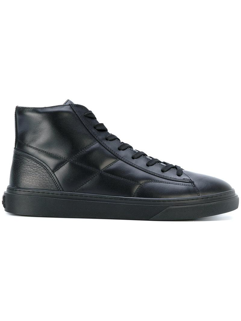 Hogan Black H340 Hi-top Sneakers
