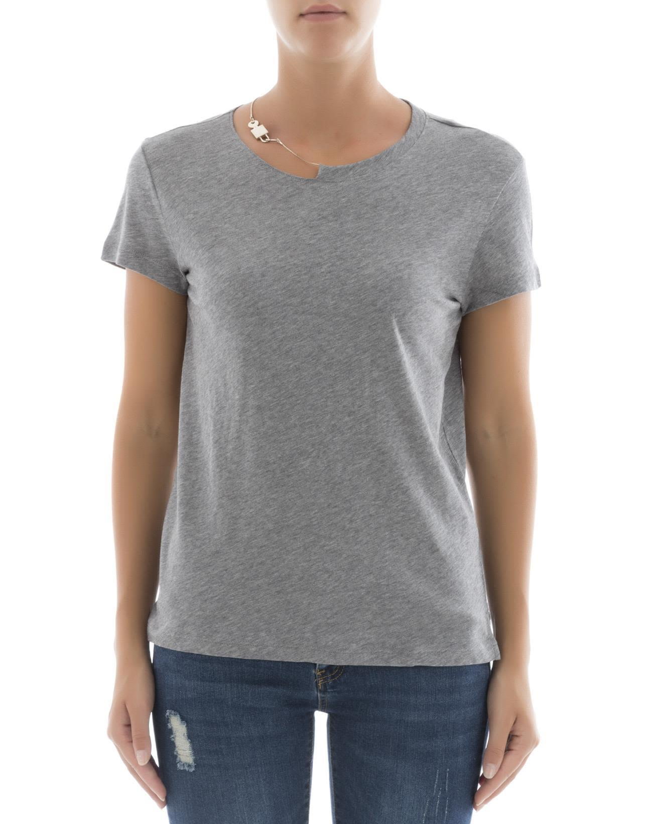 Valentino The Rockstud Embellished Cotton-Jersey T-Shirt In Gray