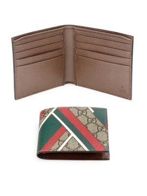7e8c52c51208 Gucci Gg Chevron Canvas Bi-Fold Wallet, Red/Green | ModeSens