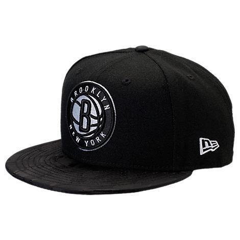 New Era Brooklyn Nets Nba Camo Shade Hat, Black