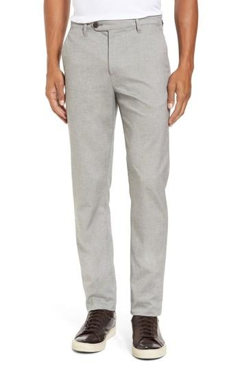 Ted Baker Modern Slim Fit Trousers In Light Grey