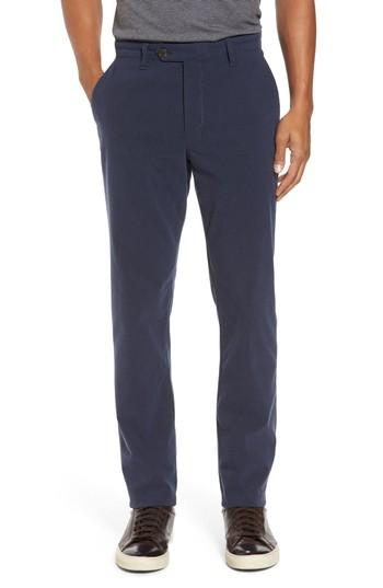 Ted Baker Modern Slim Fit Trousers In Navy