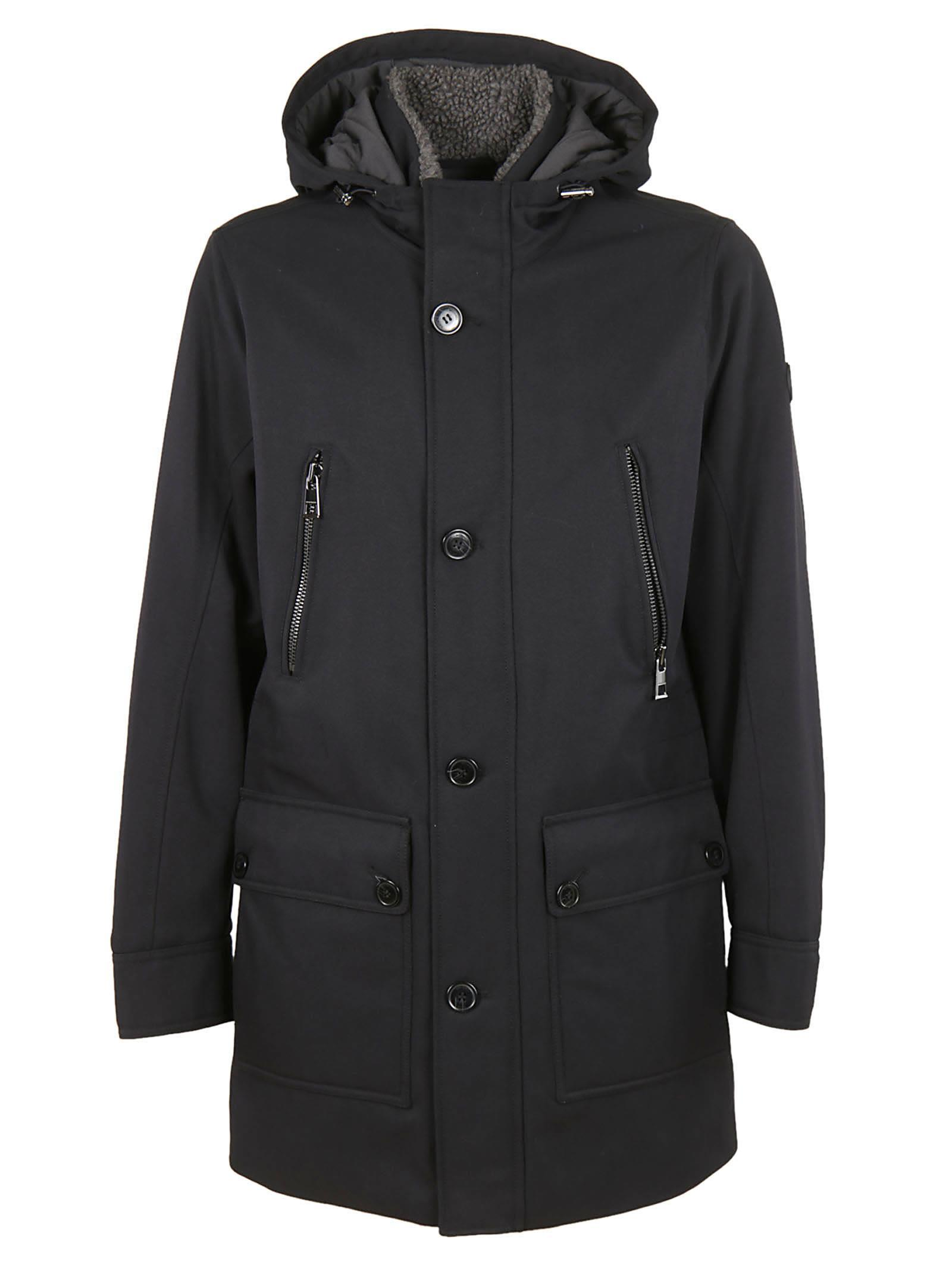 Michael Kors Buttoned Parka In Black