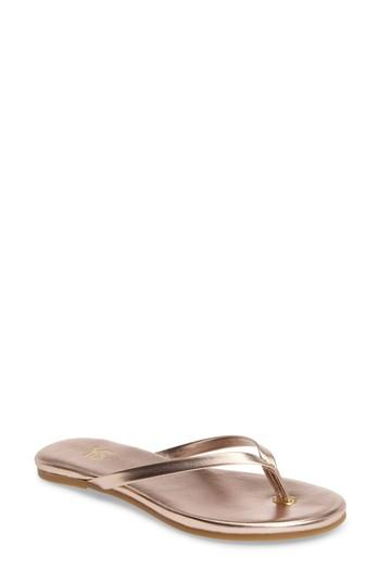 ca717d6e5388 An ultra-cushy footbed and sleek leather straps distinguish a classic flip- flop set on a grippy fish-scale sole. Style Name  Yosi Samra Rivington Flip  Flop ...