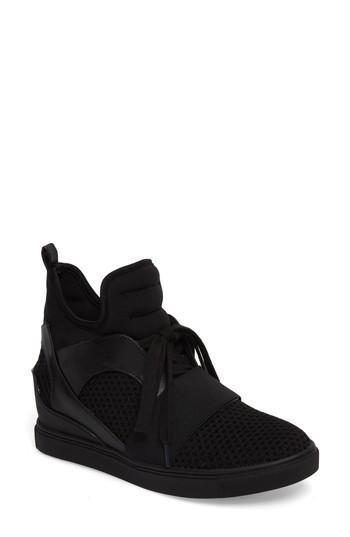 39908c208a2 Steve Madden Lexie Wedge Sneaker In Black