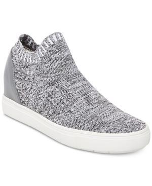 3caf8c29590 Steve Madden Sly Hidden Wedge Knit Sneaker In Grey