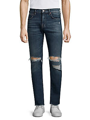 7 For All Mankind Paxtyn Skinny-fit Clean Pocket Distressed Jeans In Blowout