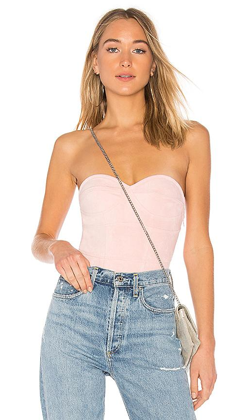 f6916d6858 By The Way. Carla Faux Suede Bodysuit In Pink