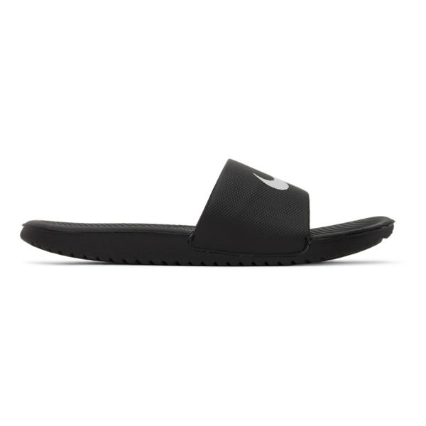 Men's Kawa Slide Sandals From Finish Line In 010 Black