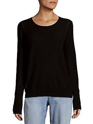 Inhabit Outer Seam Cashmere Sweater In Black