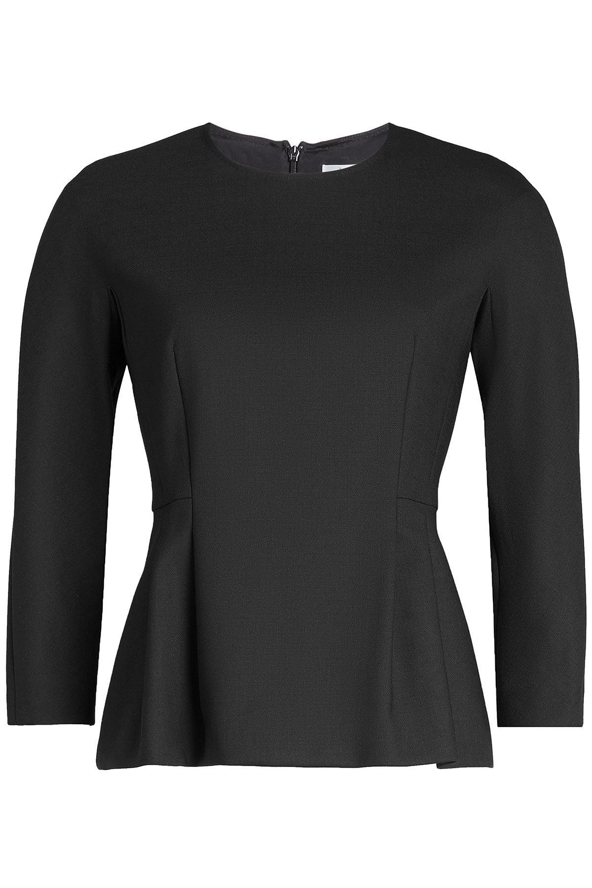 Max Mara Virgin Wool Top In Black