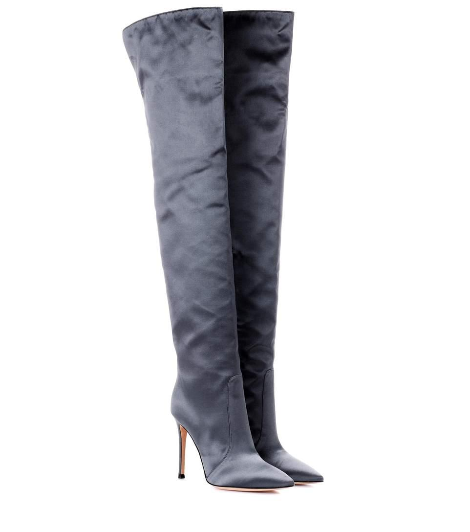 f8f6e85c187 Gianvito Rossi Exclusive To Mytheresa.Com – Rennes Satin Over-The-Knee Boots