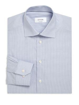 Eton Cotton Contemporary-fit Dress Shirt In Blue