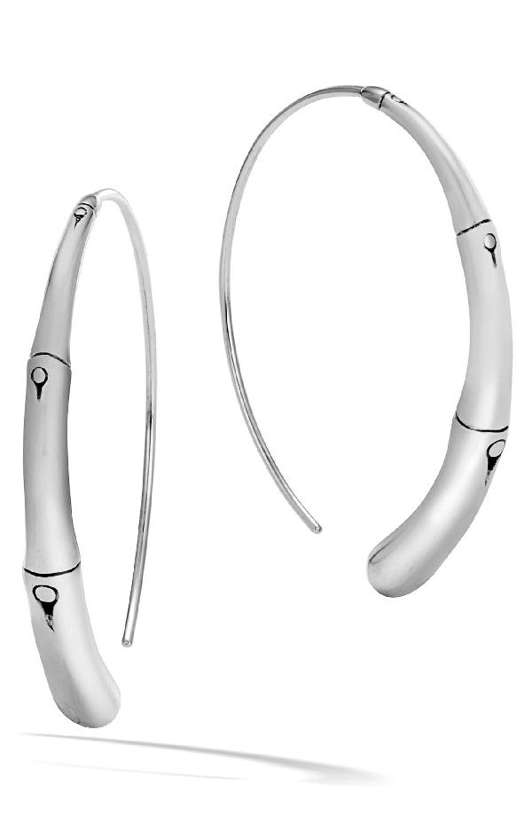 John Hardy Sterling Silver Bamboo Large Sweep Earrings