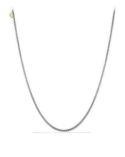 David Yurman Small Box Chain Necklace With Gold In Silver