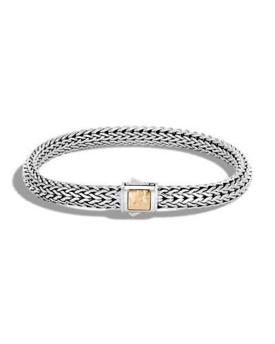 John Hardy Extra Small Classic Chain Gold & Silver Bracelet In Silver/Gold