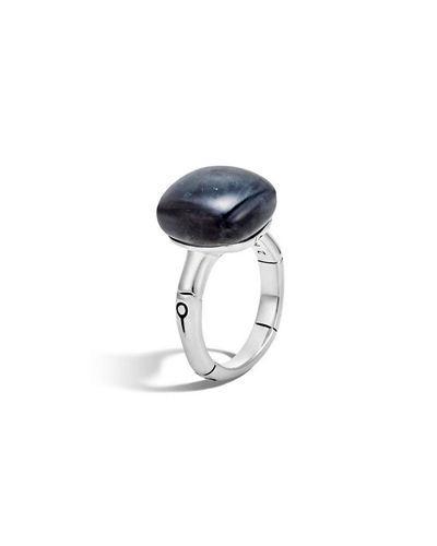 John Hardy Bamboo 14Mm Sterling Silver Cushion Ring