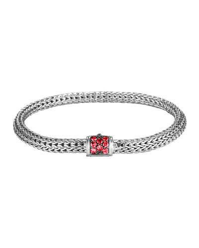 John Hardy Classic Chain Extra Small Red Sapphire Bracelet, Amethyst