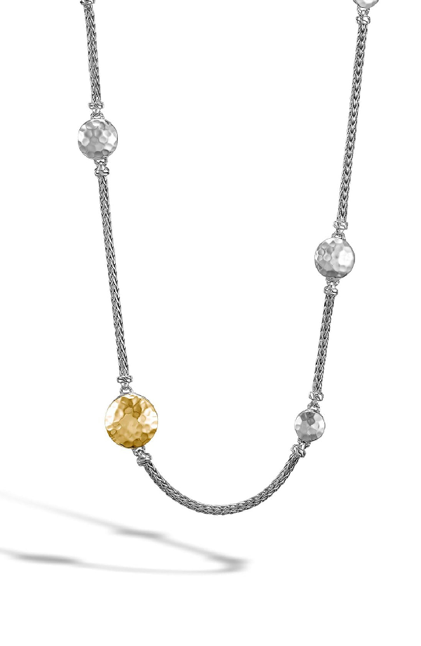 John Hardy Palu 18K Yellow Gold & Sterling Silver Station Sautoir Necklace In Silver/ Gold