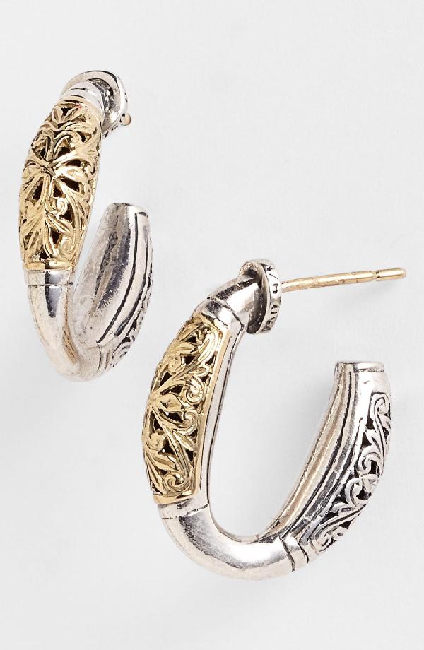 Konstantino 'classics' Two-tone Hoop Earrings In Silver/ Gold