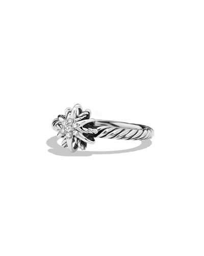 David Yurman Starburst Ring With Diamonds In Silver