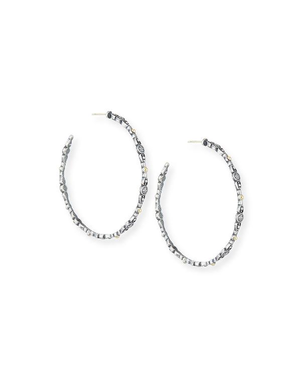 Konstantino 'silver & Gold Classic' Hoop Earrings In Silver/ Gold