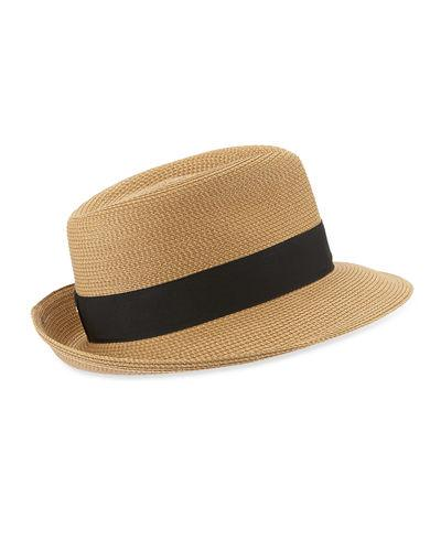 f37155253bb84 Eric Javits  Classic  Squishee Packable Fedora Sun Hat - Beige In ...