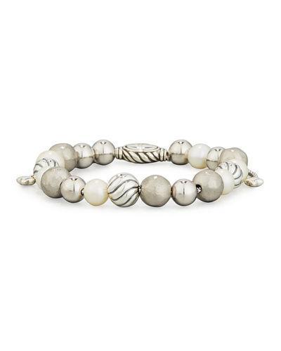 David Yurman Dy Elements Bracelet W/ Pearls, 8Mm