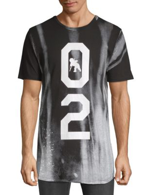 Prps Graphic Long Cotton Tee In Black
