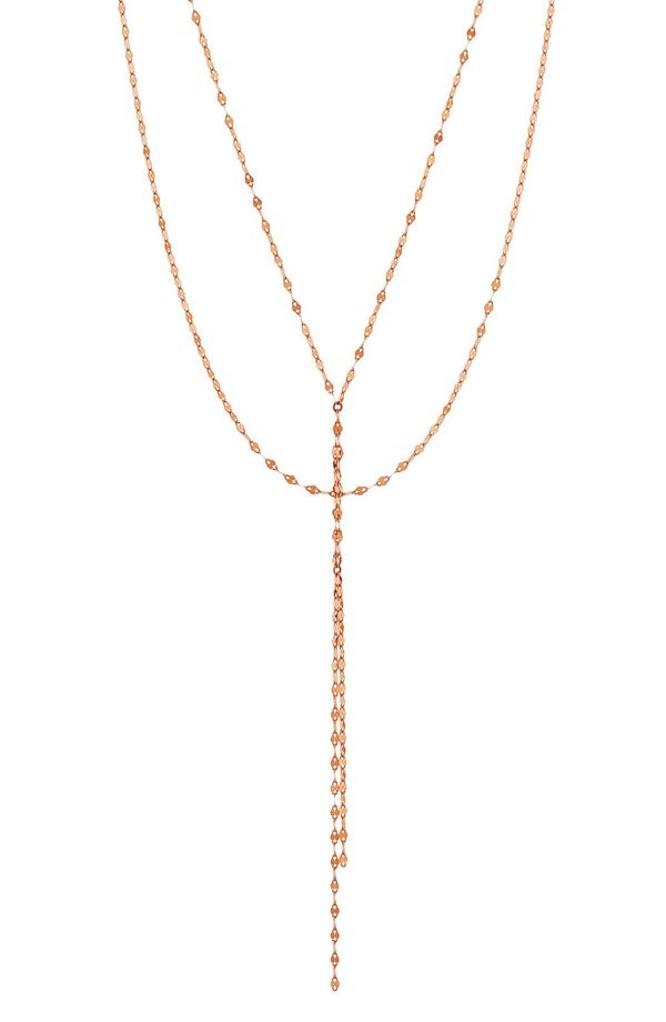 Lana 'blake' Lariat Necklace In Rose Gold