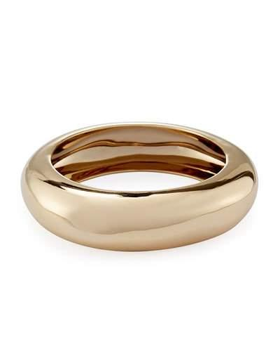 Alexis Bittar Small Watery Metal Bangle Bracelet In Gold
