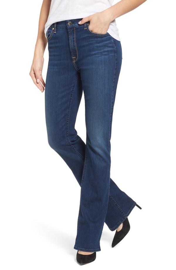 Jen7 Slim-fit Boot Cut Jeans In Riche Touch Medium Blue