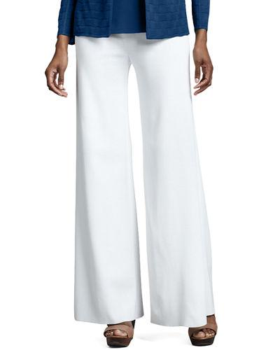 discount sale picked up drop shipping Fit & Knit Palazzo Pants, Plus Size in White