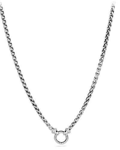 David Yurman Wheat Chain Diamond & Sterling Silver Necklace