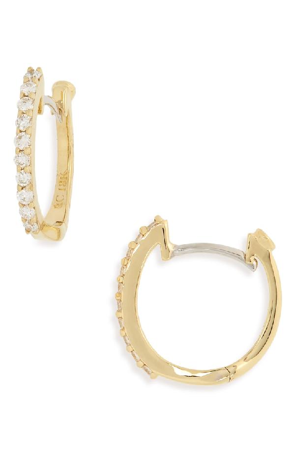 cb9bc2fdb06514 Roberto Coin 18K Yellow Gold Baby Diamond Huggie Hoop Earrings ...