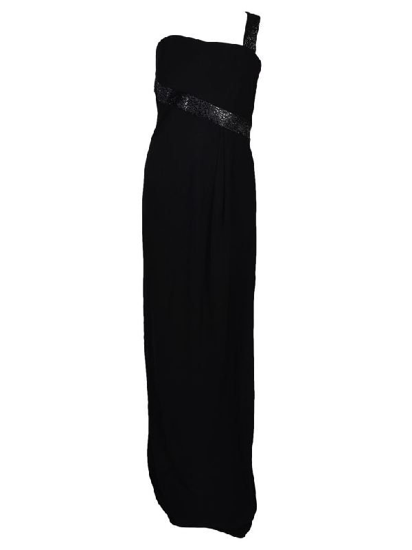 87fdc7a01616 Armani Collezioni Sequined One-Shoulder Jersey Gown
