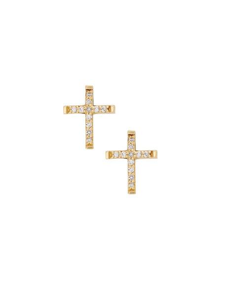 9d30b67b5 Lana Girl Girls' Diamond Cross Stud Earrings In Gold   ModeSens