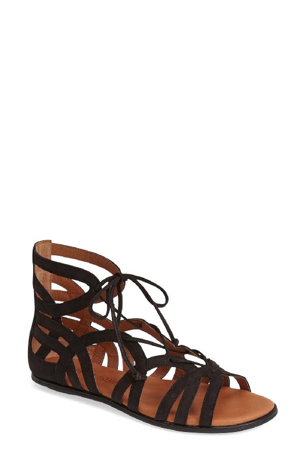 1d93c80a61e3 Gentle Souls Break My Heart Snake Embossed Lace Up Sandals In Black ...