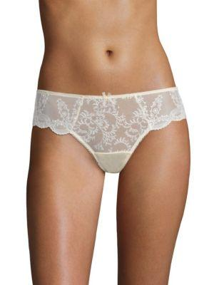 4b766c68343d2 Wacoal Innocent Embroidered Front Brief In Blonde | ModeSens