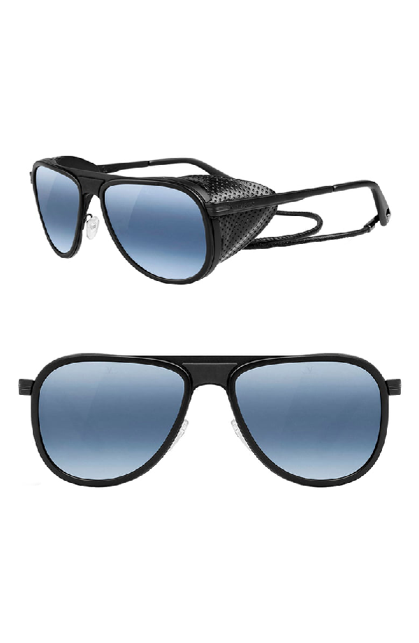 Black 57mm Glacier Sunglasses Blue Lynx Polar Aviator Matt WH9YID2eE