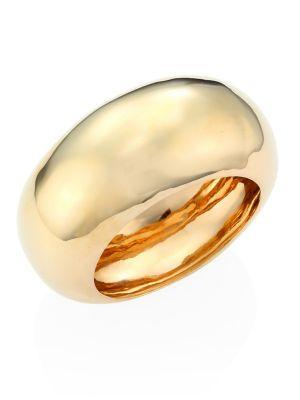 Alexis Bittar Elements Large Liquid Dome Bangle In Gold