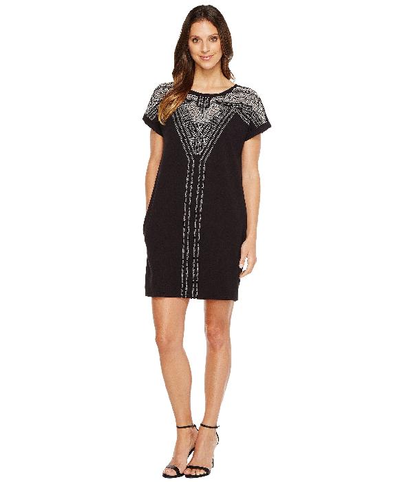 Nic+Zoe Havana Nights Short-Sleeve Embroidered Tunic Dress, Plus ...
