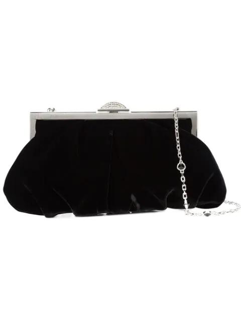 2ac93f3e2a22 Judith Leiber Natalie Velvet Evening Clutch Bag In Black | ModeSens
